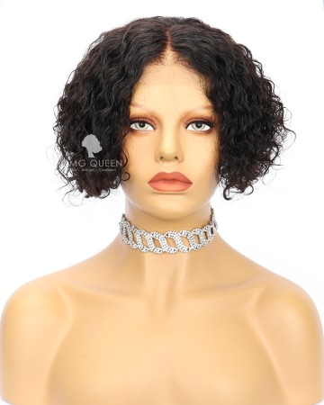 Clearance 8in Short Pixie Cut Curly Bob Wig 1.5X4 Parting Large Size [CS229]
