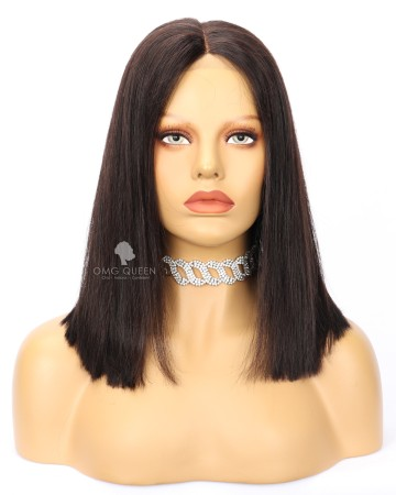 Clearance 14in Silky Straight Virgin Brazilian Lace Front Wig 200% Density [CS226]