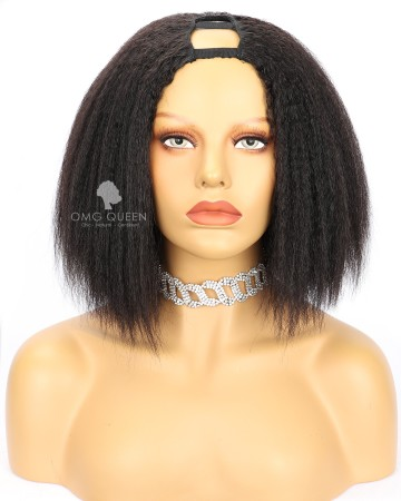 Kinky Straight Bob style Virgin Human Hair U Part Wigs [UPW09]