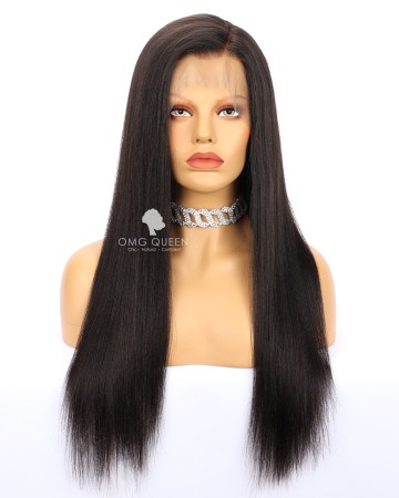 Virgin Brazilian Hair Yaki Straight Full Lace Wigs Affordable Good Quality Hair [BFW06]