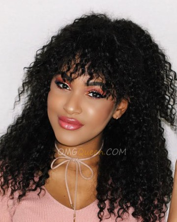 Virgin Brazilian Hair Deep Curly Affordable Lace Front Wigs Good Quality [BLW10]