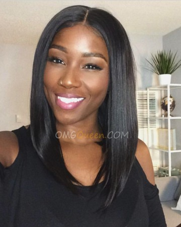 150% Density Inspired Virgin Brazilian Light Yaki Bob Lace Wigs 360 Bob Wig [BMW04]