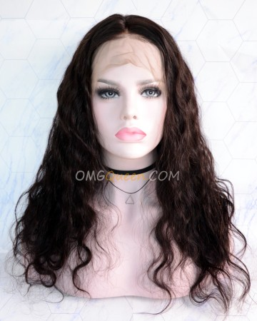 Clearance 18in 150% Density Body Wave Virgin Brazilian Glueless Lace Front Wigs  [CS164]
