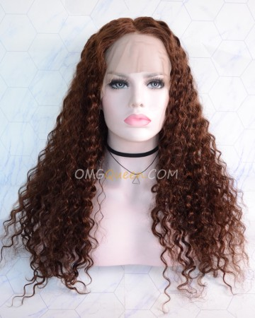 Clearance 20in #4 Light Brown 130% Density CapC Glueless Full Lace Wig Small Size [CS158]
