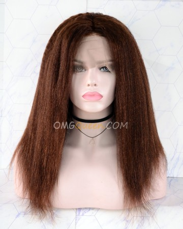 Clearance 14in #4 Light Brown 150% Density CapC Glueless Full Lace Wig Small Size [CS141]