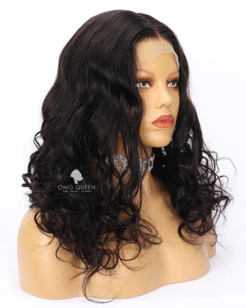 Clearance Improved Bleached Knots Wavy 18in 180% Density Glueless Full Lace Wig Small Size [CS186]