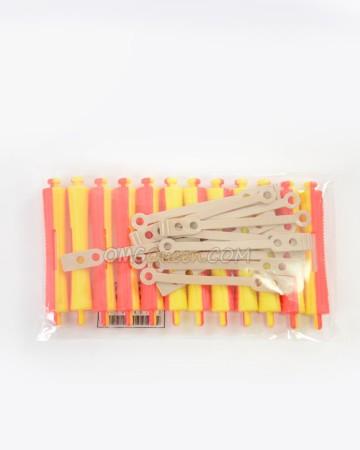 12Pcs Styling Plastic Hair Perm Rod [CT08]