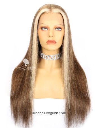 Victoria's Secret Ash Brown with Front Highlights Human Hair [VS06]