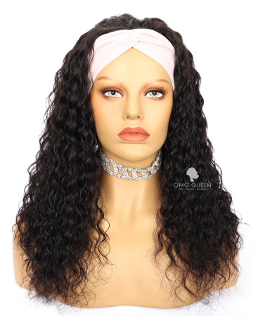 Affordable Virgin Human Hair Deep Wave  Headband Wig [HBW02]