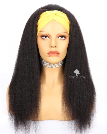 Kinky Straight Headband Wig Affordable Virgin Human Hair [HBW03]