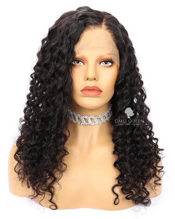 Deep Wave High Quality Natural Color Malaysian Virgin Hair Full Lace Wigs [MFW05]