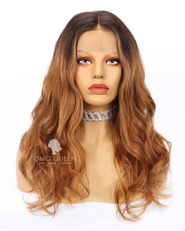 Jessica Burciaga Sexy Blonde Wavy Ombre Hair Indian Virgin Lace Wig [IMW07]