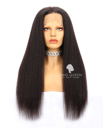 Kinky Straight High Quality Natural Color Malaysian Virgin Hair Full Lace Wigs [MFW03]