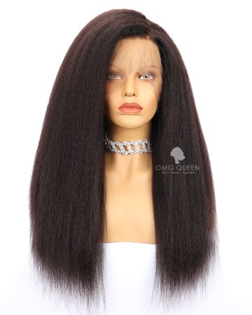 Kinky Straight Virgin Brazilian Hair Full Lace Wigs Affordable Good Quality Hair [BFW09]