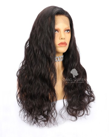 Body Wave High Quality Indian Virgin Hair Natural Color Silk Base Lace Wigs [ISW02]