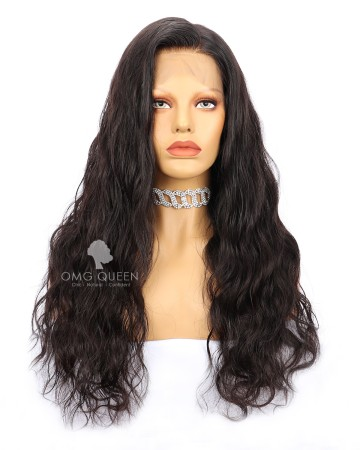 Malaysian Virgin Hair High Quality Body Wave Natural Color Lace Front Wigs [MLW02]
