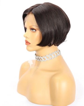 8in Straight Pixie Cut Bob Wig Human Hair Wig Small Size [CS248]