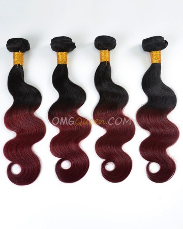 Clearance #1BT99J Indian Virgin Hair Body Wave Bundles and Closure [SD45]
