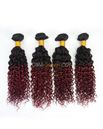 Clearance #1BT99J Indian Virgin Hair  Jerry Curl Bundles[SD45]