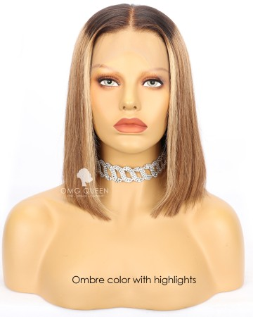 Alexis Blunt Cut Lace Front Wig Human Hair [BMW37]