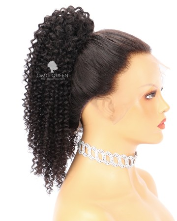 Virgin Human Hair Kinky Curly Drawstring Ponytail (3C/4A) [PN02]