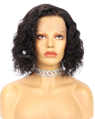 10in Messy Curly BOB Lace Front Wig Human Hair Wig [CS244]