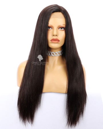 180% Density Kinky Straight 360 Frontal Wig Virgin Brazilian Hair Good Quality Affordable Wig [BTW03]