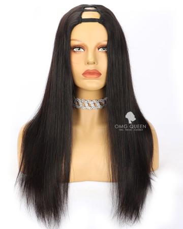Silky Straight Virgin Human Hair U Part Wigs [UPW10]