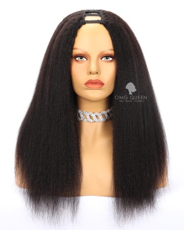 Affordable Kinky Straight Human Hair U Part Wigs [UPW02]