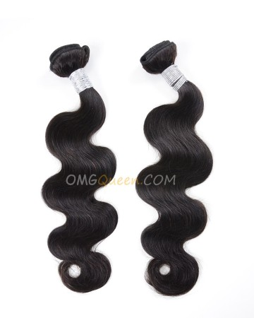 Natural Color Brazilian Virgin Body Wave 2pcs Hair Weave/Weft Unprocessed Hair [BHW12]