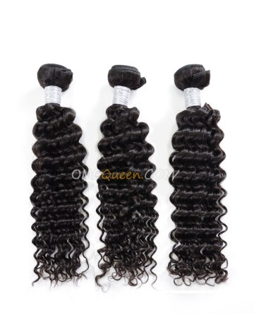 Natural Color Virgin Brazilian 3pcs Deep Wave Hair Weave/Weft Unprocessed Hair [BHW28]
