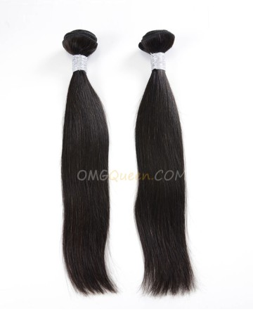 Natural Color Virgin Brazilian Silky Straight 2pcs Hair Weave/Weft Unprocessed Hair [BHW11]