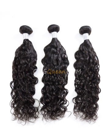 Natural Curly Virgin Brazilian 3pcs Natural Color Hair Weave/Weft Unprocessed Hair [BHW27]