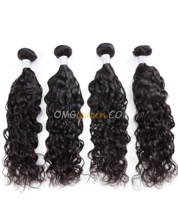 Virgin Brazilian Hair Natural Color Natural Curly 4pcs Hair Weave/Weft Unprocessed Hair [BHW36]