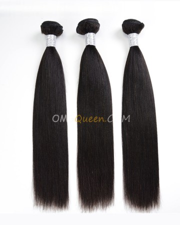 Virgin Brazilian Natural Color Yaki Straight 3pcs Hair Weave/Weft Unprocessed Hair [BHW26]