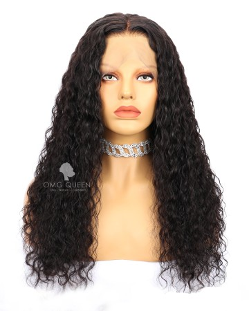Virgin Brazilian Hair Natural Curly Affordable Lace Front Wigs [BLW07]