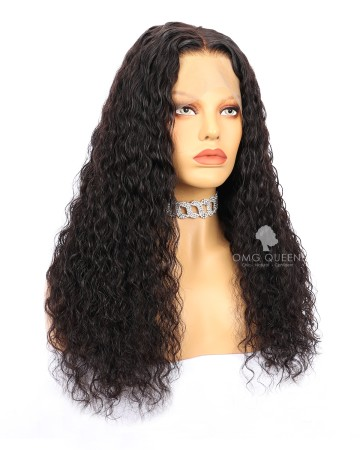 Natural Color Natural Curly High Quality Silk Base Lace Wigs Indian Virgin Hair [ISW07]