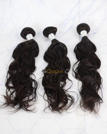 Clearance Natural Color Virgin Brazilian Hair Natural Wave Bundles [SD52]