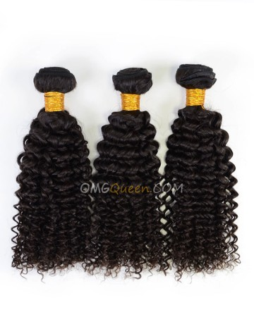 Natural Color Indian Virgin Curly Wave 3pcs Hair Weave/Weft High Quality Hair [IHW29]