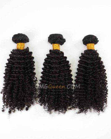 Natural Color Kinky Curl 3pcs Hair Weave/Weft Indian Virgin High Quality Hair [IHW24]