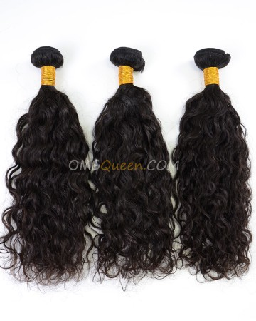 Indian Virgin Natural Color Natural Curly 3pcs Hair Weave/Weft High Quality Hair [IHW27]