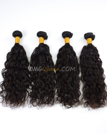 High Quality Indian Virgin Hair Natural Curly Natural Color 4pcs Weave/Weft  [IHW36]