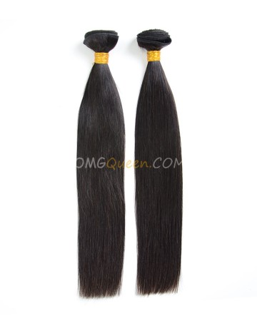 Indian Virgin Silky Straight 2pcs Hair Weave/Weft High Quality Hair [IHW11]