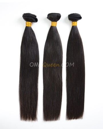 Natural Color Indian Virgin Silky Straight 3pcs Hair Weave/Weft High Quality Hair [IHW21]