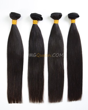 Indian Virgin Hair Silky Straight Natural Color 4pcs Hair Weave/Weft High Quality Hair [IHW31]