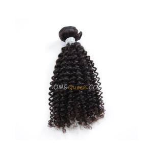 Natural Color Virgin Brazilian Kinky Curl 1pcs Hair Weave/Weft Unprocessed Hair [BHW09]