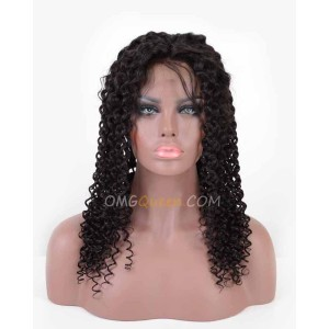 Affordable Lace Front Wigs Curly Wave Virgin Brazilian Hair [BLW08]