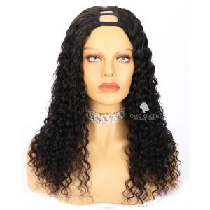 18in Deep Wave Virgin Human Hair U Part Wigs [UPW12]