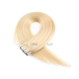 High Quality #613 White Blonde Tape In Hair Extensions DIY DYE Indian Virgin Hair  [ITP01]