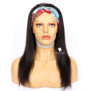 Affordable Virgin Human Hair Silky Straight  Headband Wig [HBW01]
